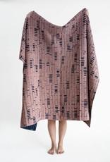 Sophie Speck illi plaid  -  Blauw en oud roze