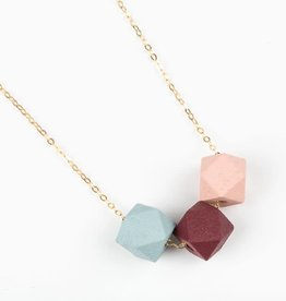 Jacqueline & Compote Ketting Burgundy - Sky - Blush