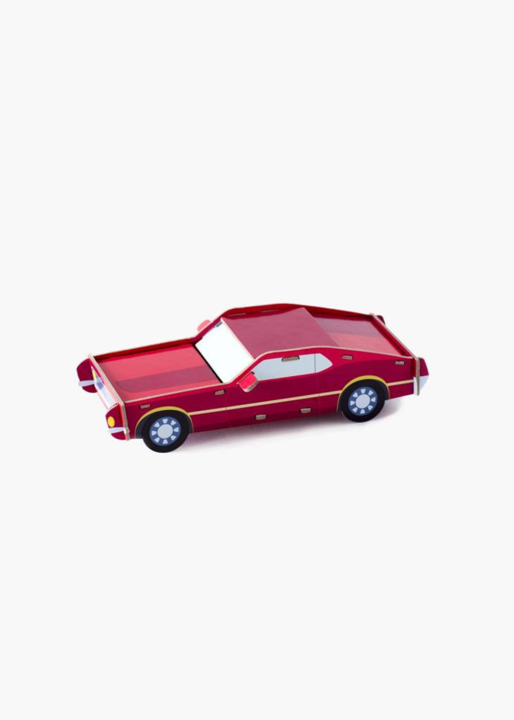 3D auto in karton