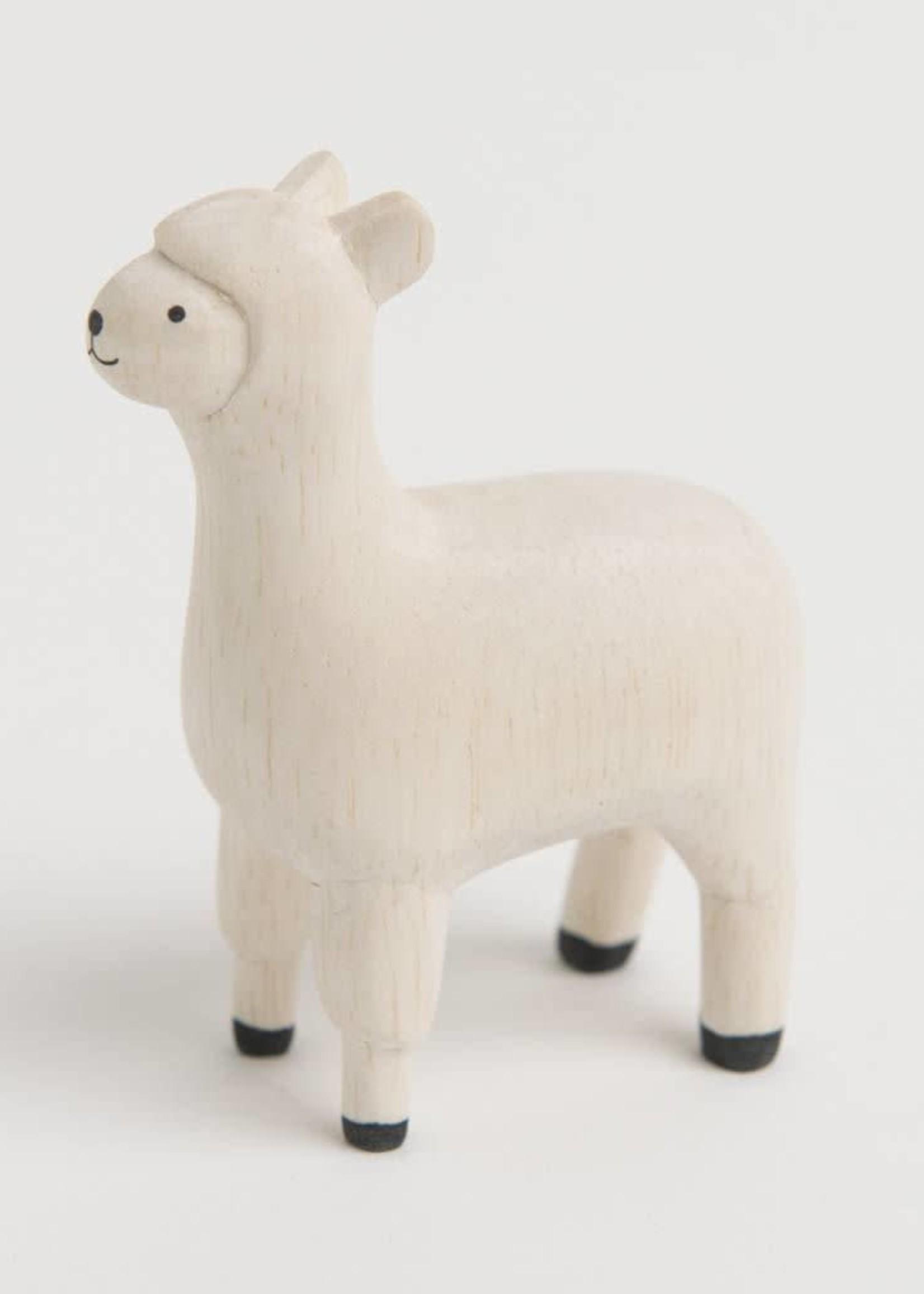 Houten diertje - Alpaca