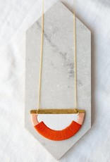 Halsketting Craven - orange/blush/gold