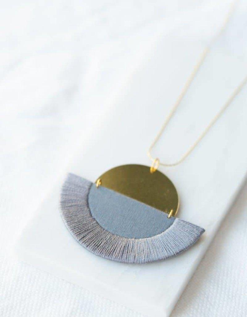 Ketting Luna - Grey semi-circle
