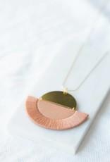 Ketting Luna - Rose semi-circle
