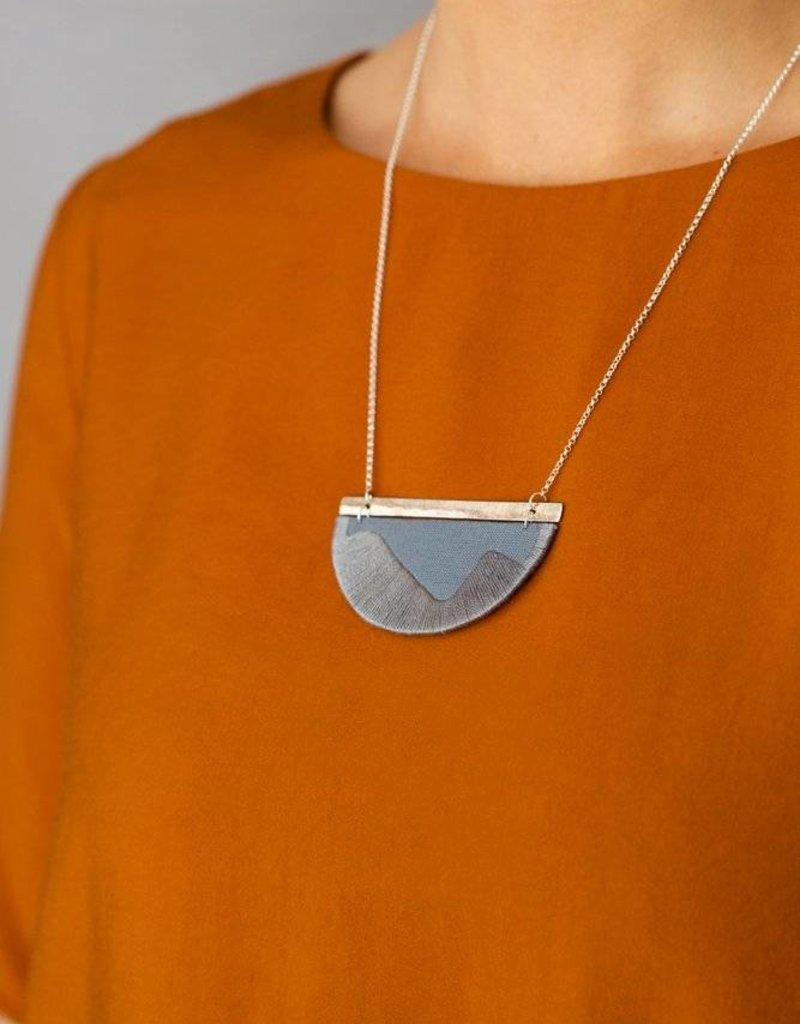 Halsketting Folke - Grey/Silver