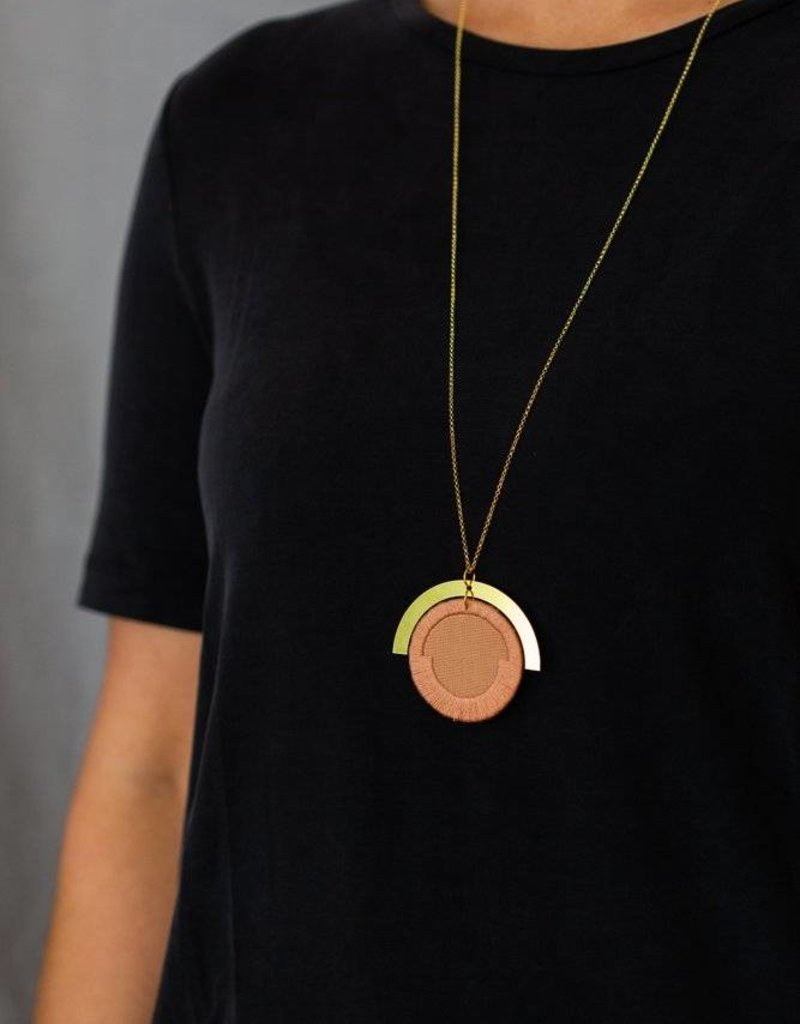 Ketting Luna - Rose circle