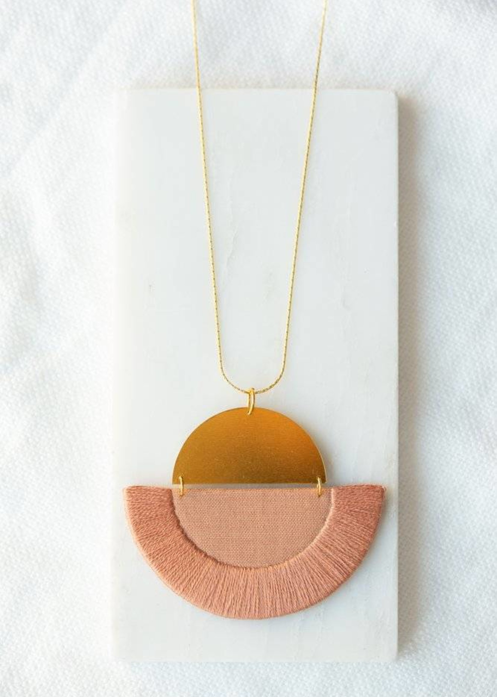 Ketting Luna - Rose semi-circle
