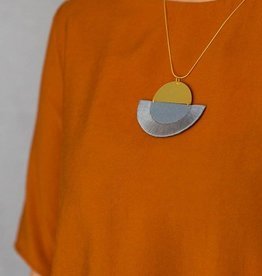 Ketting Luna - Grey semi-circle