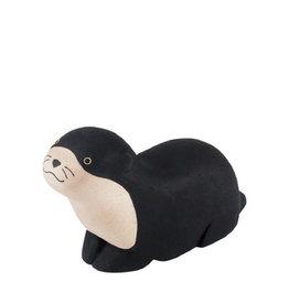 Houten dier Zwarte otter