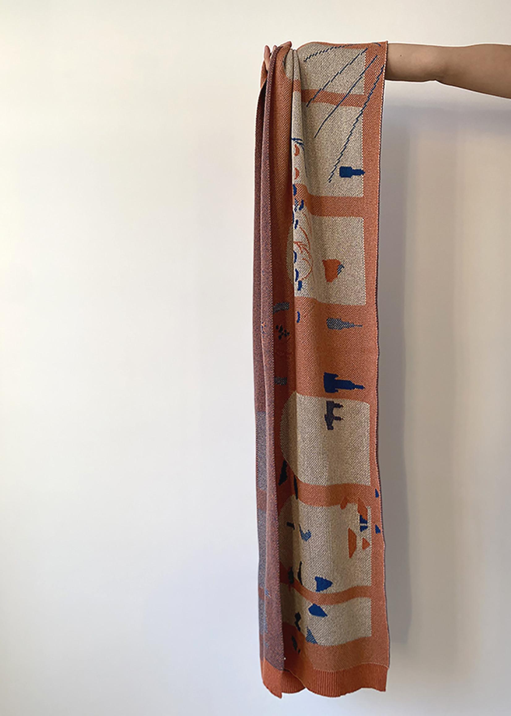 Sjaal Van Eyck - Peach