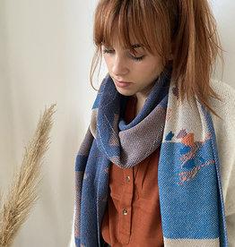 Sophie Speck Sjaal Van Eyck - Blue