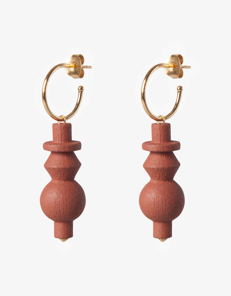 Jacqueline & Compote Oorbellen -  Totem hoop L