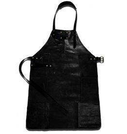 Parya Home Parya Home - Leather Barbecue Apron - Black