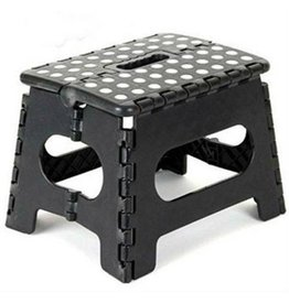 Foldable Stool - Kitchen Staircase - Black - Up to 80 kg