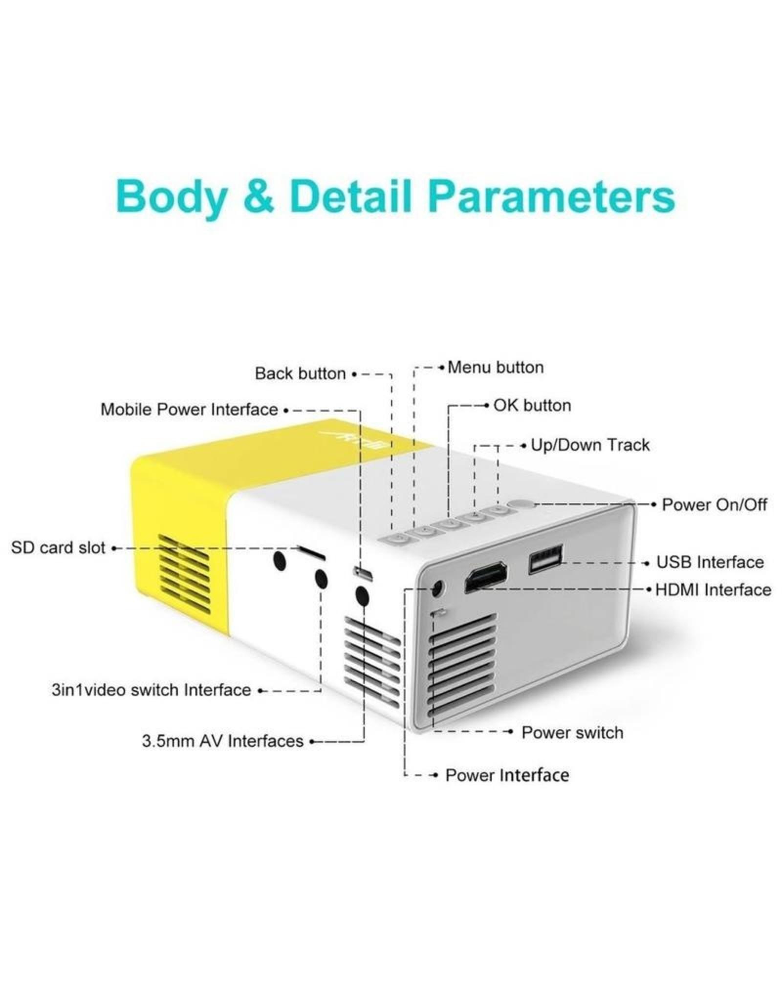 Parya Official Parya - Mini LCD High Definition Projector