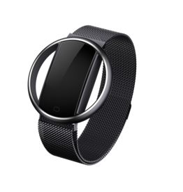 Parya official Parya Smart Bracelet - Maan - Zwart - Stainless