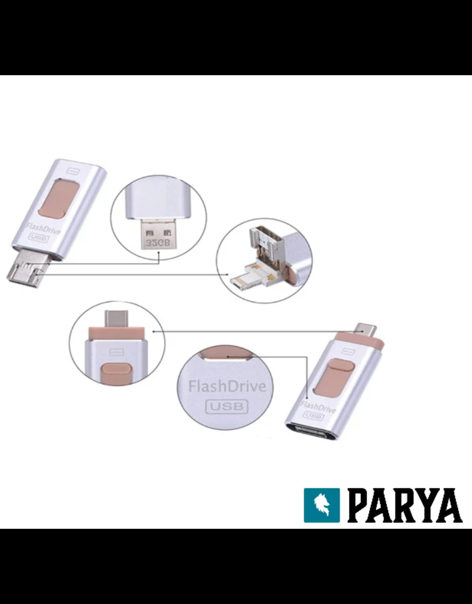 Parya Official Parya 4-in-1 flashdrive