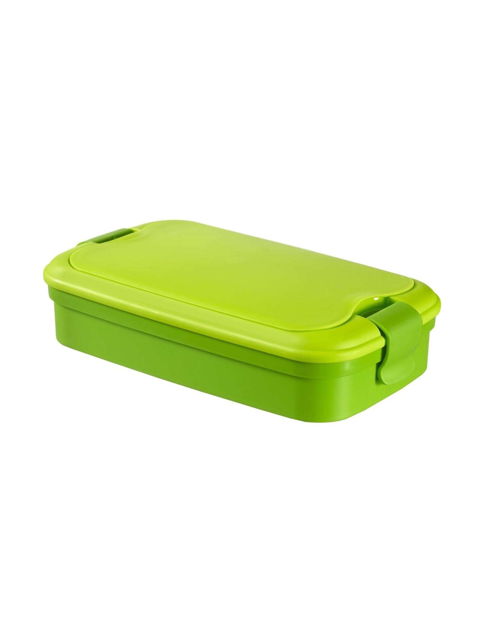 Curver Lunch & Go Lunchbox - Met Bestek - 2/3 Compartimenten - Groen