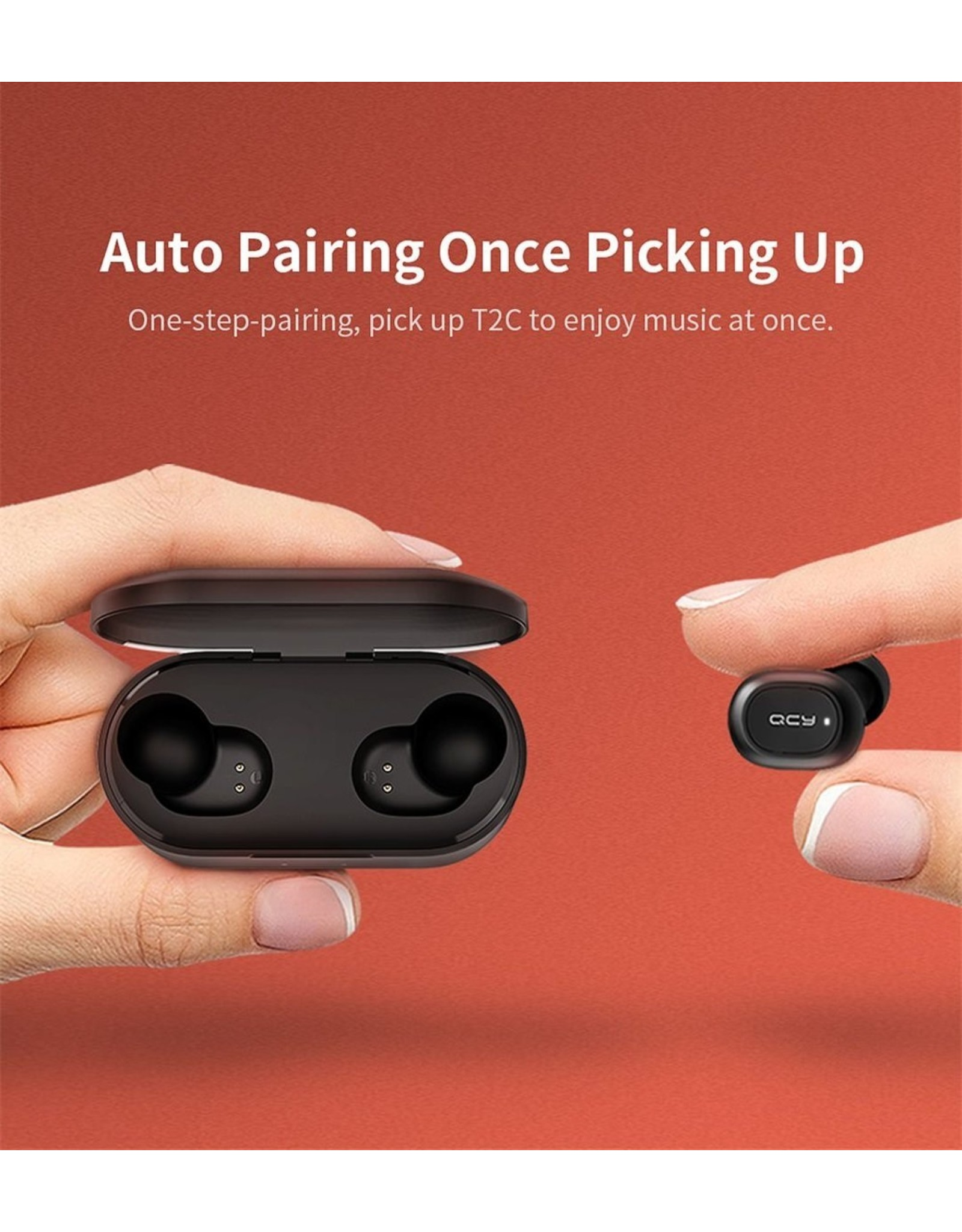 QCY T2C - Fully wireless earbuds - Black