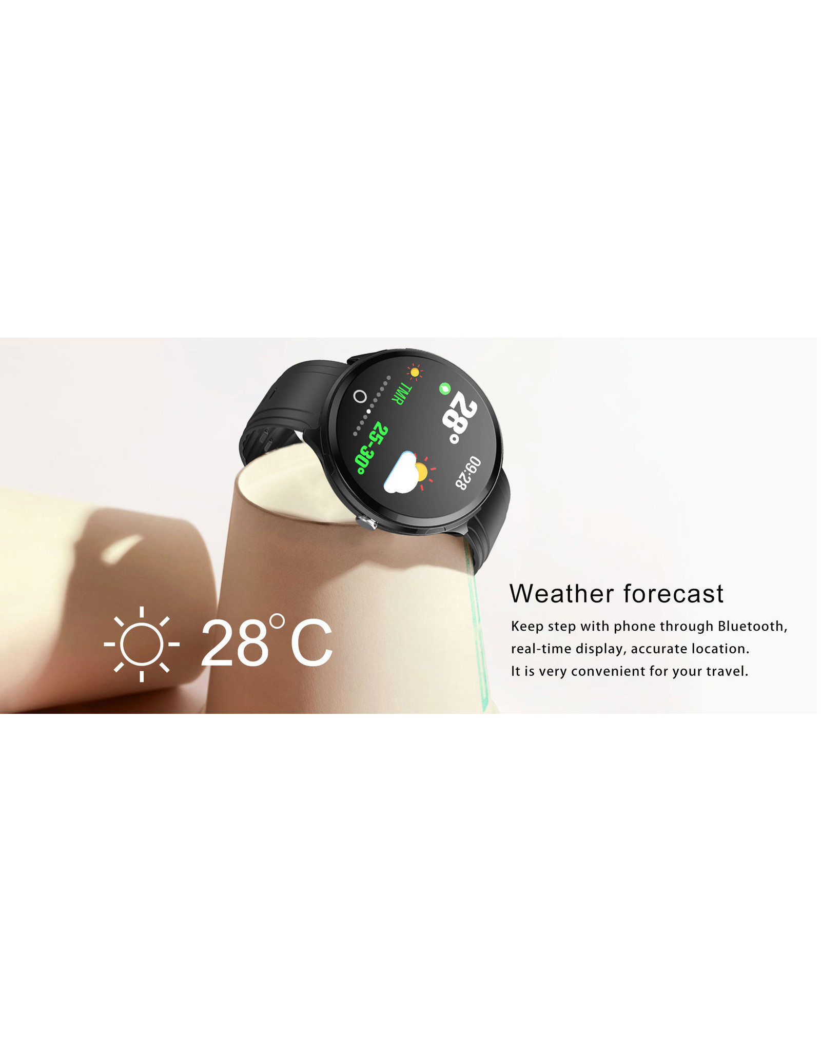 Parya Official Parya Official - Smartwatch - EastVill - Zwart