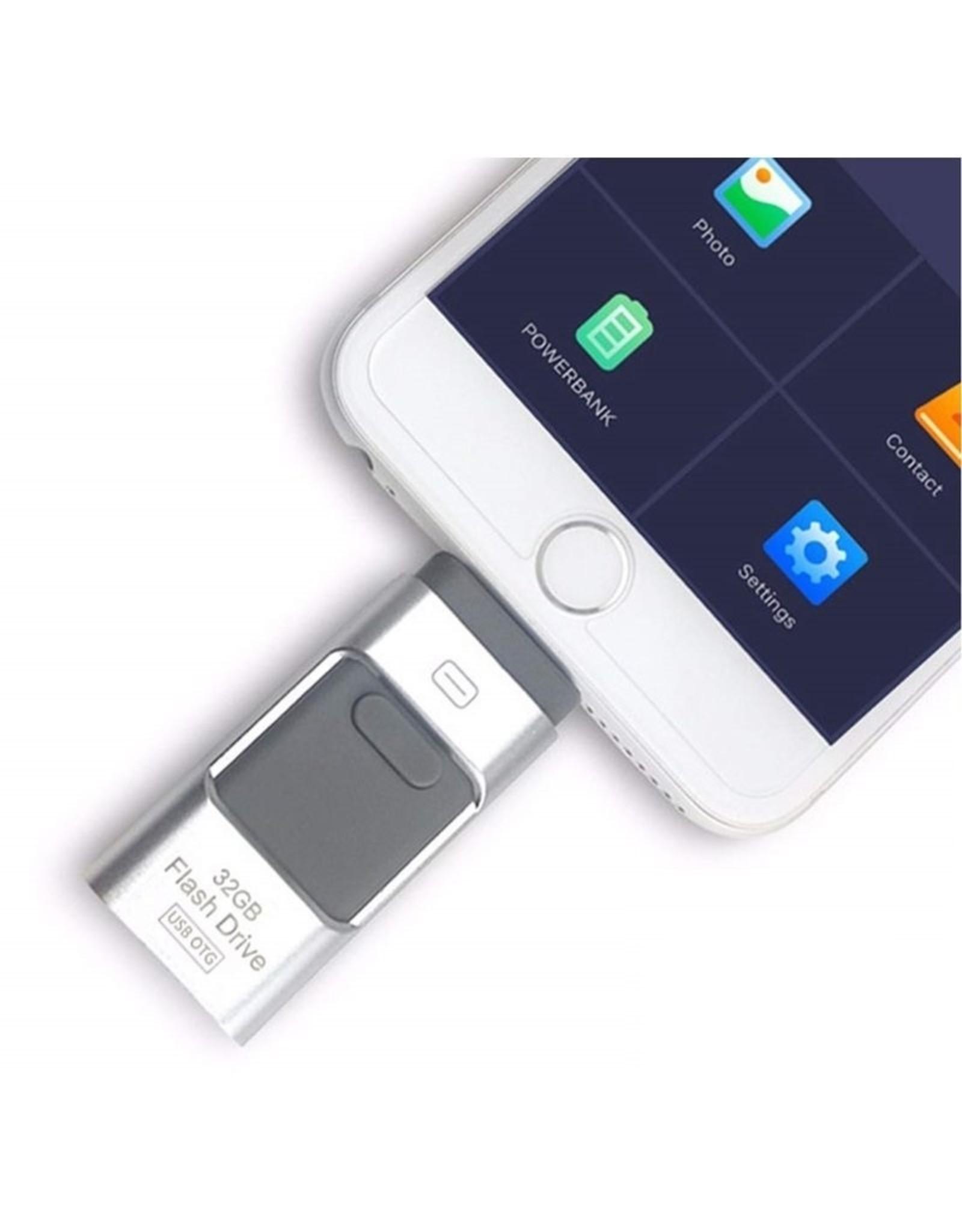 Parya Official 3-in-1 Flash Drive - Met Aansluiting Voor Telefoons