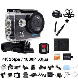 EKEN H9R 4K WiFi Action Cam met Afstandsbediening Complete Set