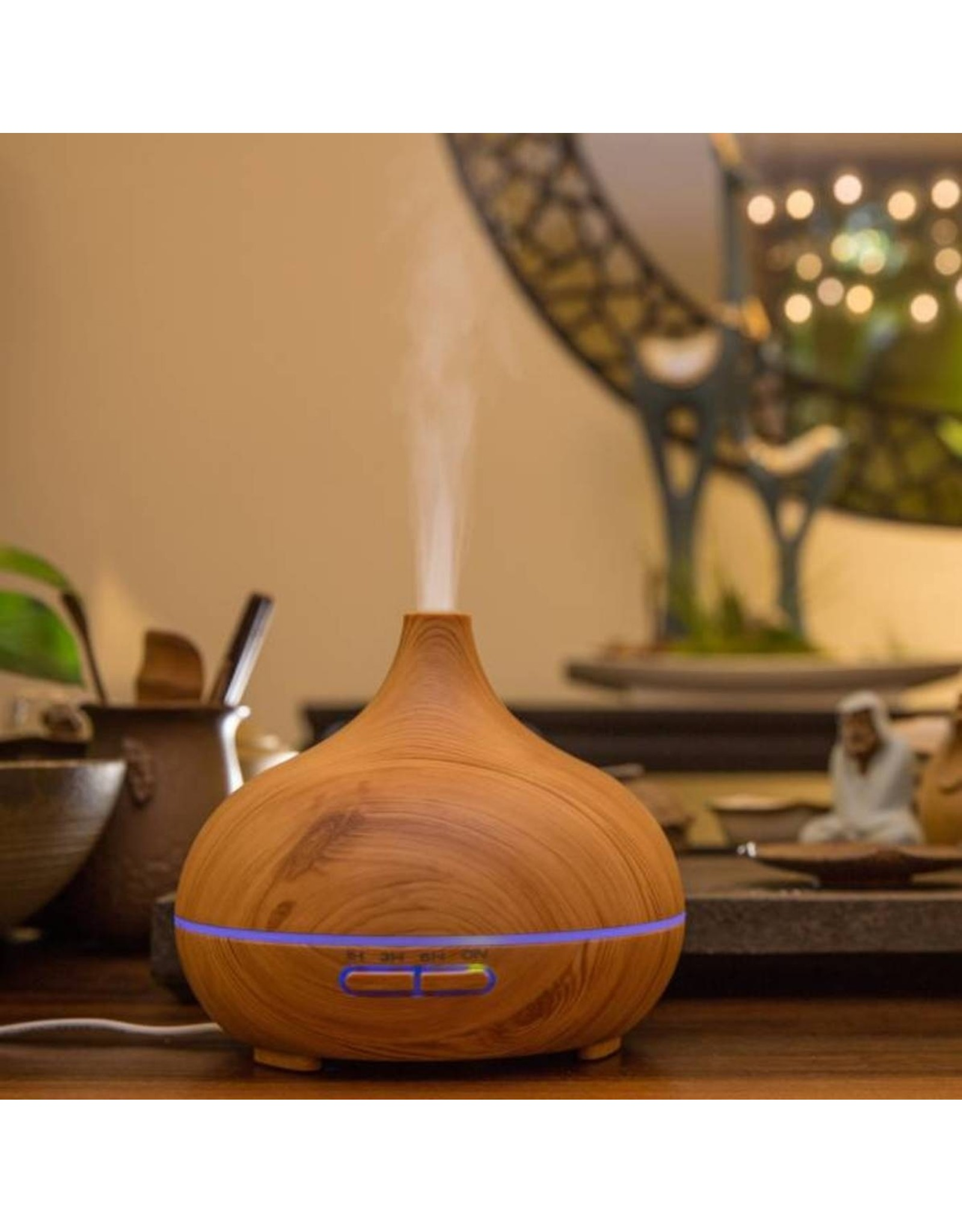 Parya Official  Aroma diffuser - 300 ML - LED - Licht bruin