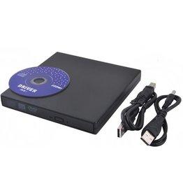 Plug & Play Externe CD/DVD Combo Drive Speler Reader (vierkant)