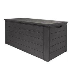 Woody - Tuin opbergbox - Waterdicht - Antraciet/bruin