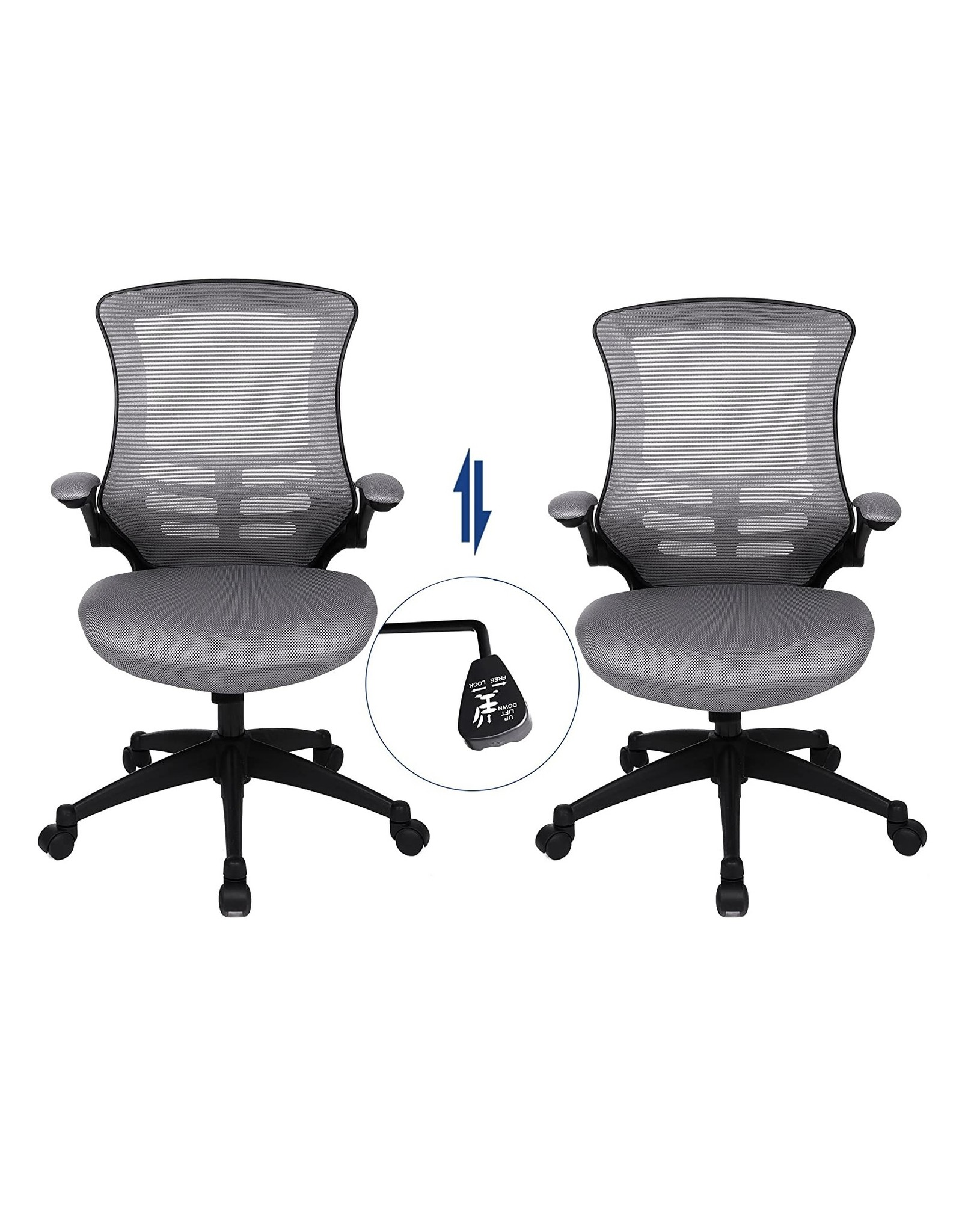 Parya Home Parya Home - Swivel chair with Foldable Armrest