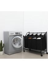 Parya Home Parya Home - Wasmand op wielen - 4 Waszakken