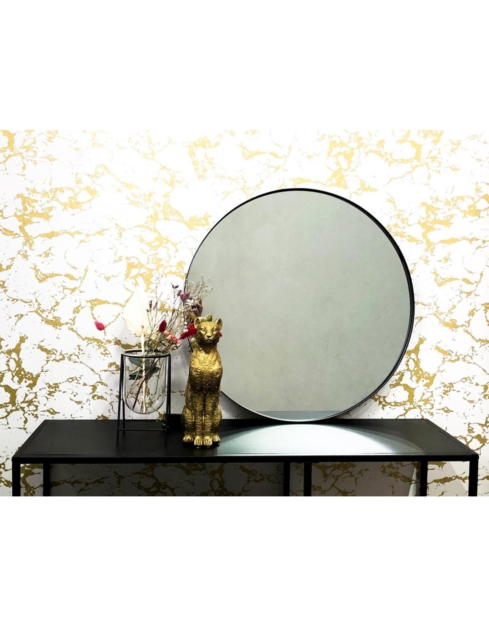 Parya Home Parya Home - Metalen Spiegel Rond - 60 cm - Zwart