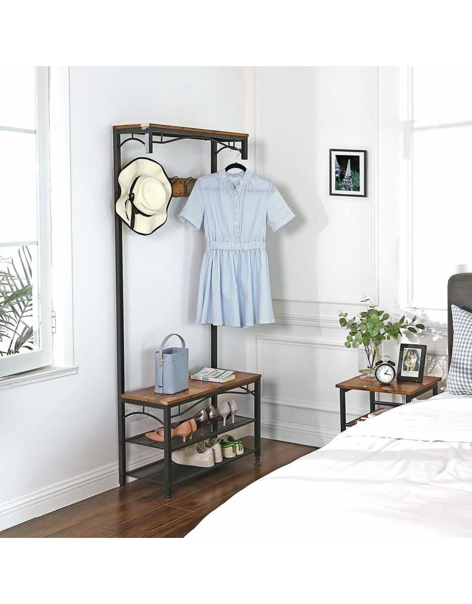 Parya Home Parya Home - Coatrack With 3 Shelves - Incl. shoe rack