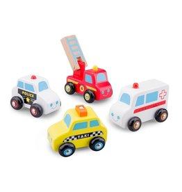 New Classic Toys - Speelgoedvoertuigen Set - 4 Auto's - EV