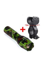 Parya Official Parya Official - Military Flashlight - Green - Incl. bike holder