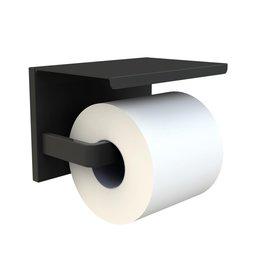 Parya Home Parya Home - Toiletrolhouder - Met Telefoonhouder - Zwart