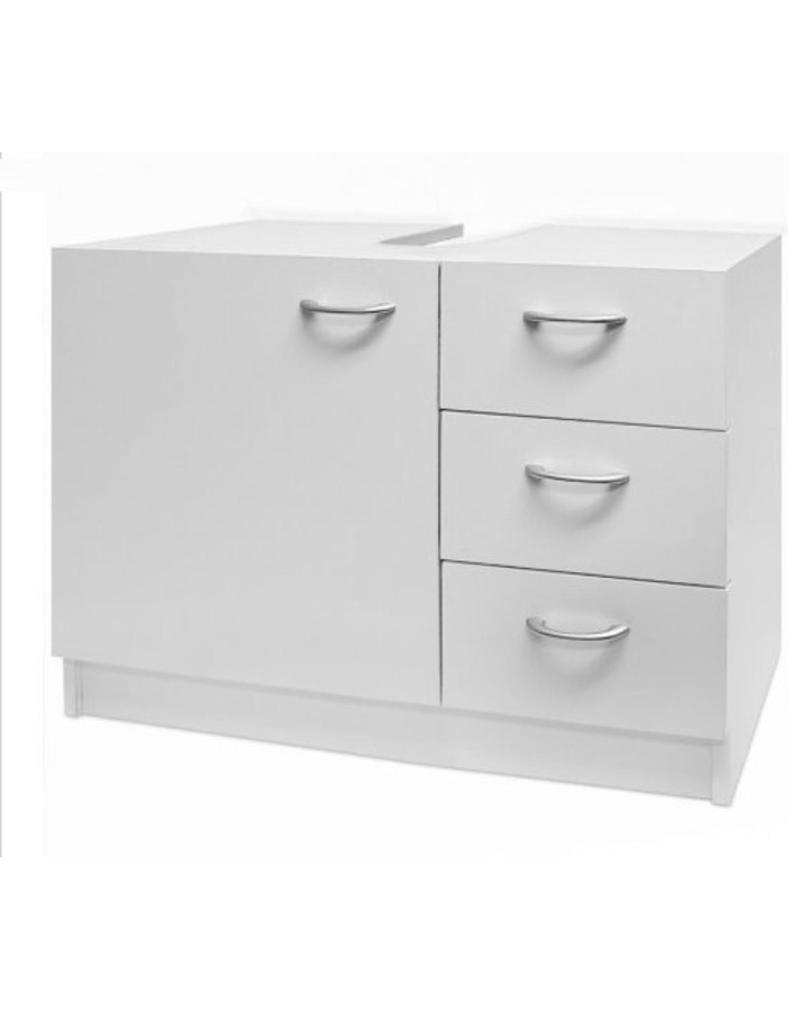 Monzana Wastafelonderkast - met - deur - en - 3-lades - in - wit