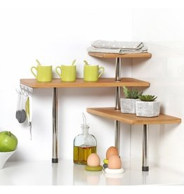 5Five - Kitchen rack - Bamboo - With 4 hooks