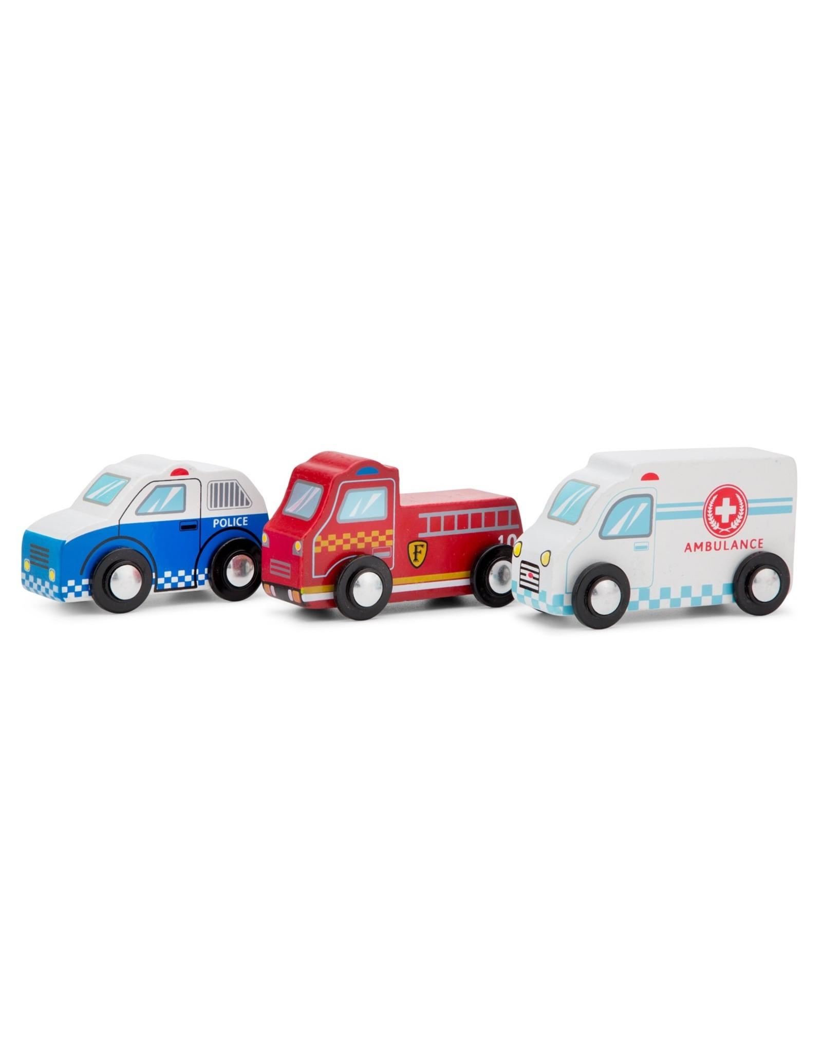 New Classic Toys - Speelgoedvoertuigen Set - 4 Auto's