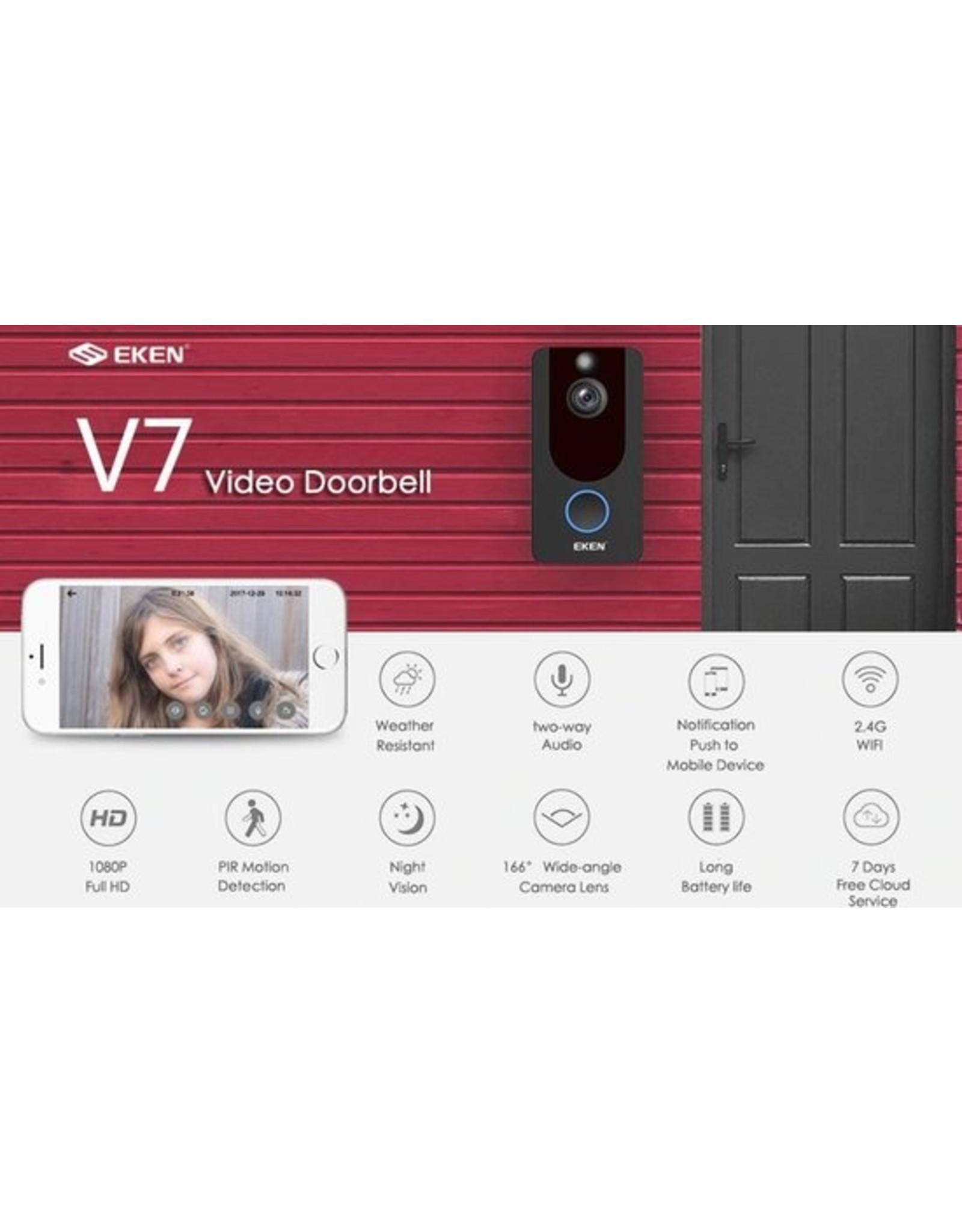 EKEN V7 HD video doorbell with camera - EV