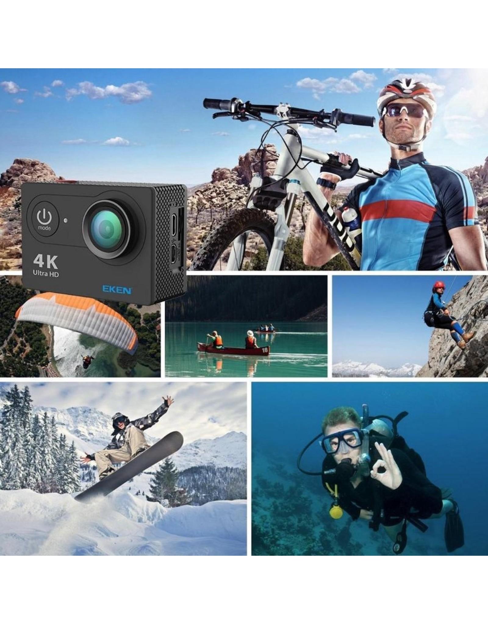 EKEN H9R + Sandisk 32GB SD + Extra Accu + Borstband - EV