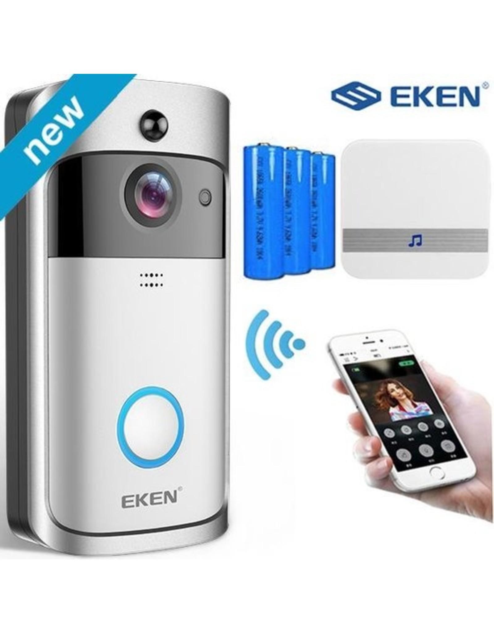 Eken - Deurbel V5 - Draadloze deurbel met camera