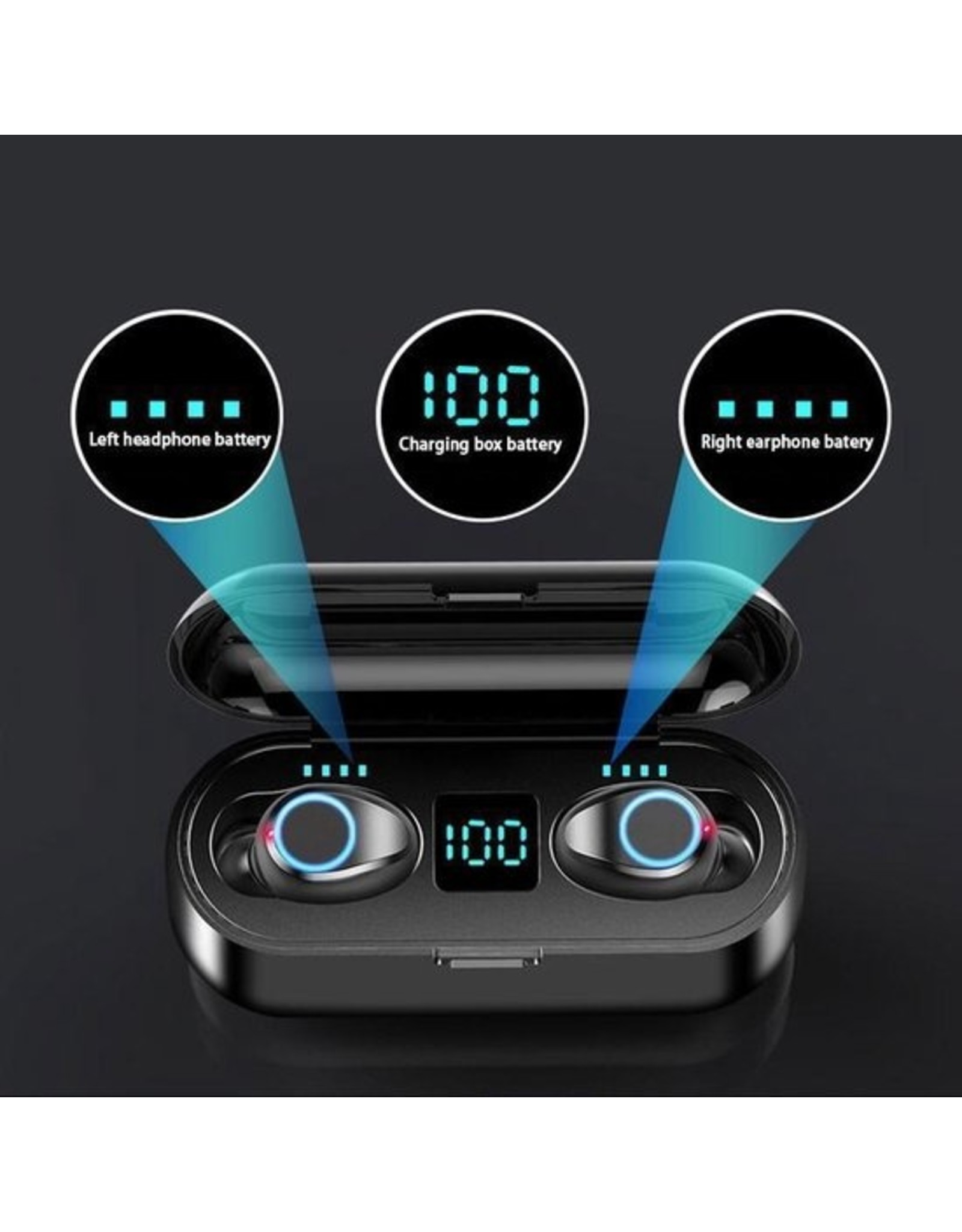 QCY T2C - Fully wireless earbuds - Black - EV