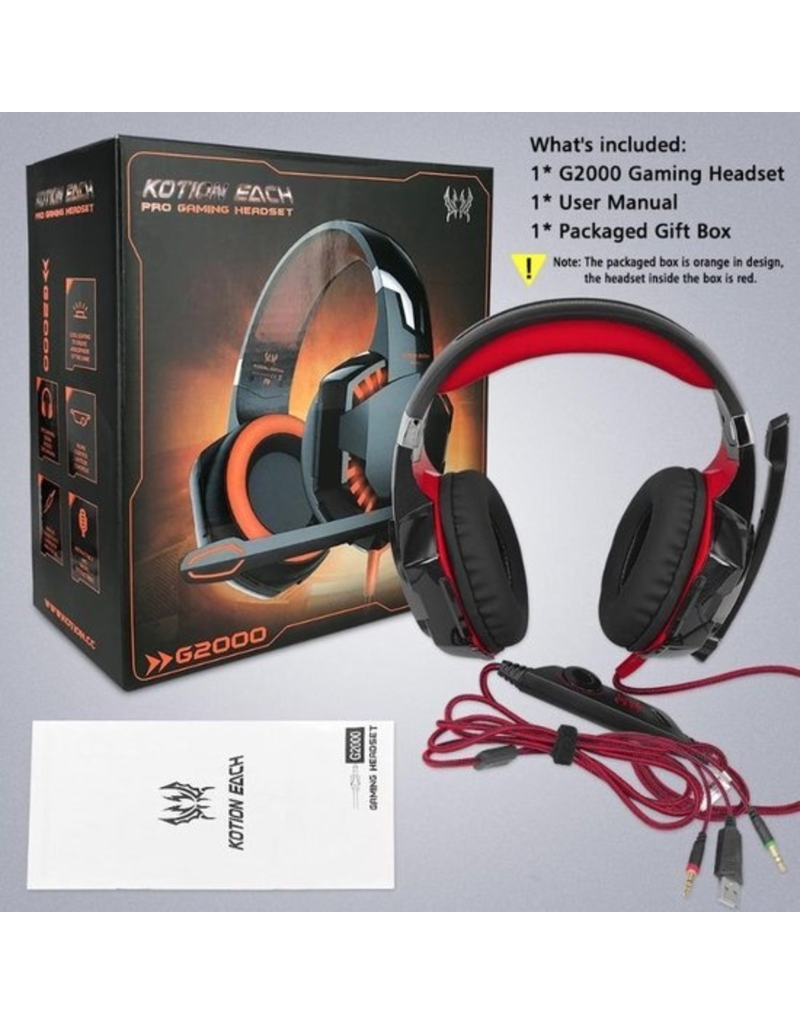 Parya Official Kotion Each - Headset - Zwart/Rood - EV