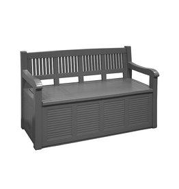 Storage bench Salzburg - Plastic - Anthracite - 130x60cm