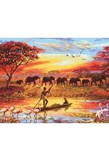 Schilderen op Nummer - Voor Volwassenen - Afrikaans landschap
