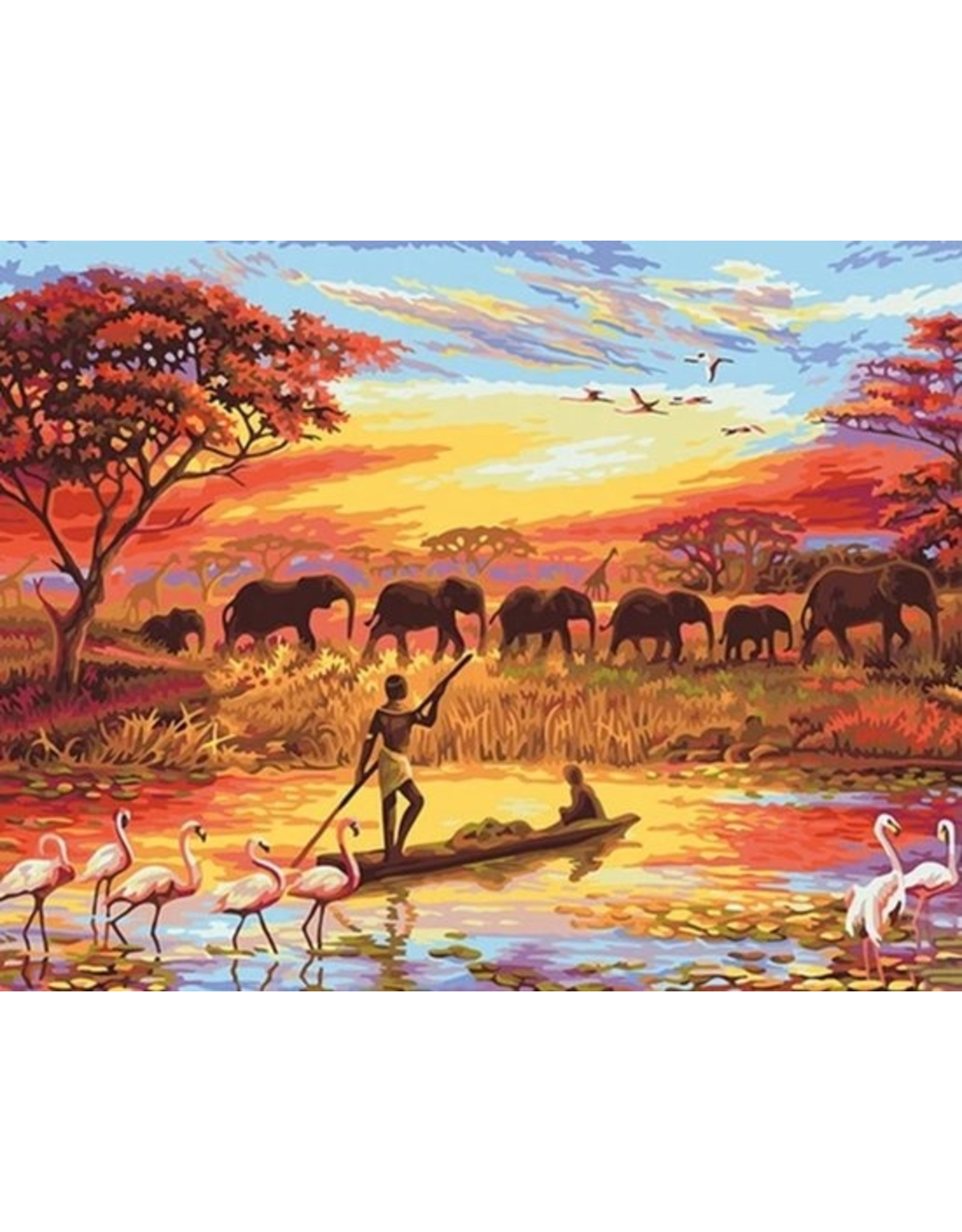 Painting by Number - For Adults - African Landscape