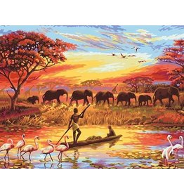 Schilderen op Nummer - Afrikaans landschap