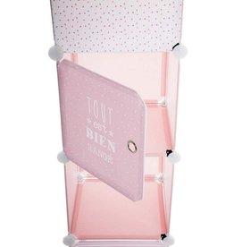 Atmosphera Atmosphera - 4 compartment vertical storage cabinet - pink - 32x34x140 cm