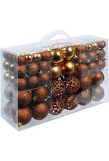 Parya Home Parya Home - Round Christmas Balls - 100 balls - Brown