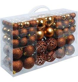 Parya Home Parya Home - Ronde Kerstballen - 100 ballen - Bruin